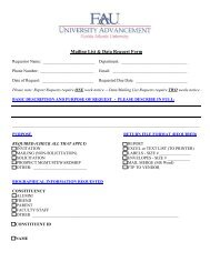 Mailing List & Data Request Form