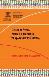 Libertad de Prensa, Acceso a la Información y ... - unesdoc - Unesco
