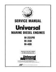 engine service - Westerbeke