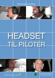 Headset til piloter - BAR transport og engros
