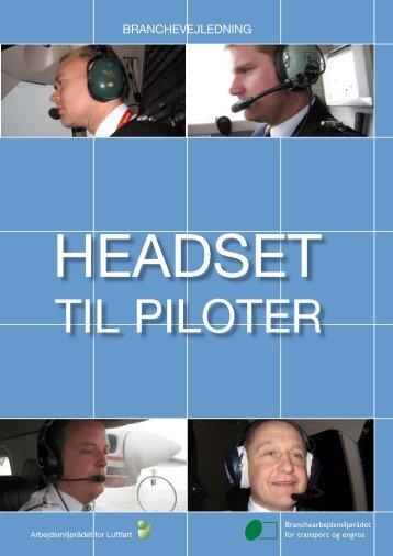 Headset til piloter - BAR transport og engros