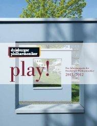 play! - Die Duisburger Philharmoniker