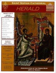 March 2013 - Saint Sophia Greek Orthodox Cathedral