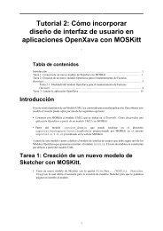 Tutorial 2: Cómo incorporar diseño de interfaz de usuario ... - MOSKitt