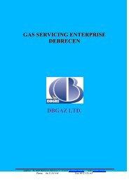 GAS SERVICING ENTERPRISE DEBRECEN