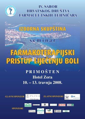iv. sabor hrvatskog društva farmaceutskih tehni»ara - HDFT