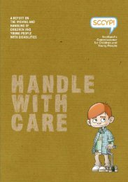 Handle with care: a report on the moving and handling of children ...