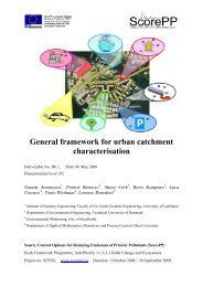 ScorePP D6.1 Framework for catchment characterization, 2008-05 ...