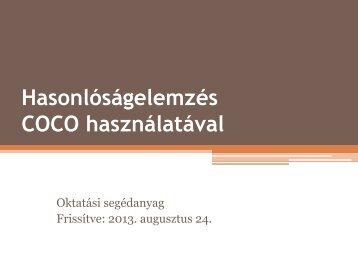 Hasonlóságelemzés COCO használatával - MIAU