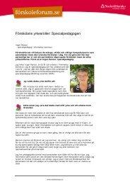 Förskolans yrkesroller: Specialpedagogen - Vimmerby Kommun