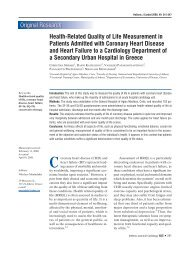 Health-Related Quality of Life Measurement in Patients Admitted ...