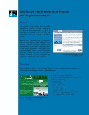 Web-based Data Management Systems BMT Designers & Planners ...