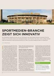 sportmedien-branche zeigt sich innovativ - SPONSORs Sports ...