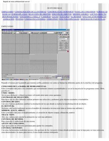Descargar Manual de 3D Studio Max R2.5 - Mundo Manuales