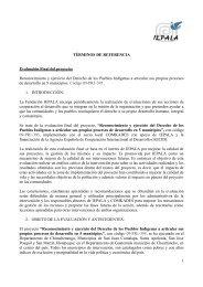 TÉRMINOS DE REFERENCIA Evaluación Final del proyecto - Iepala