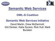 Semantic Web Services - DAMl