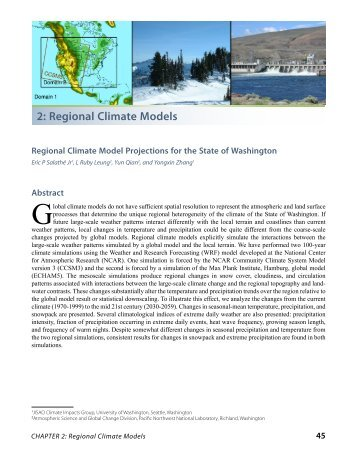 2: Regional Climate Models - Center for Science in the Earth System