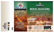 ROYAL RANGERS ROYAL RANGERS - Pathfinder Missions