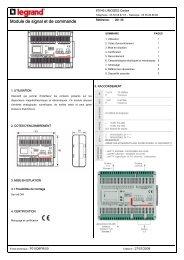 Module de signal et de commande