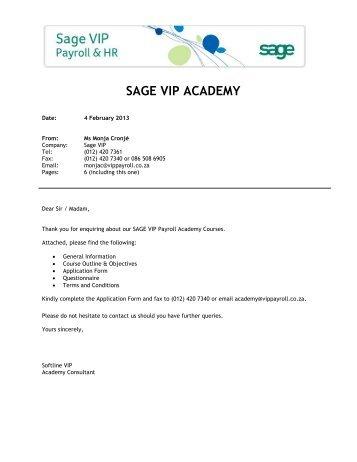 SAGE VIP ACADEMY - VIP Payroll