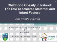 Childhood Obesity in Ireland: The role of selected Maternal and ...