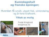 Nedvandringsfiskepassager for smolt av laks/ørret ... - Energi Norge