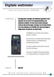 Folder Digitale Wattmeter DW6060 - Brink Techniek
