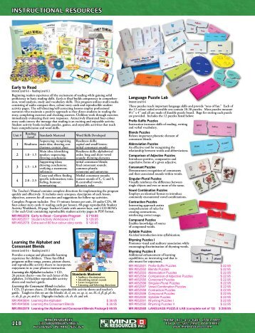 Instructional Resources (pages 118-151) - Mind Resources