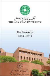 Fee Structure Booklet.cdr - Aga Khan University