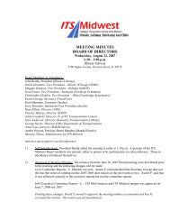 Board of Directors Meeting Minutes, August 22, 2007 - ITS Midwest