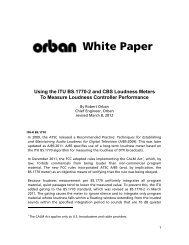 [PDF] Using the ITU BS.1770-2 and CBS Loudness Meters ... - Orban