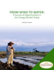 FROM WIND TO WATER: - the Family Office Association