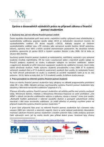 Finanční pomoc studentům - Ministerstvo školství, mládeže a ...