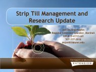 Strip Till Management and Research Update