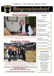 Gauder Fest 2012 2. und 3. Juni: Tag des offenen Tales 7. bis 10. Juni