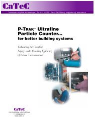 P-Trak Ultrafine Particle Counter for Building Systems