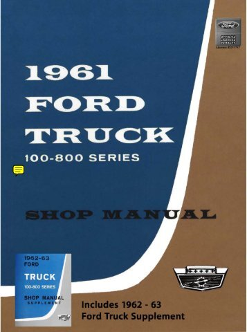 1961-63 Ford Truck Shop Manual - ForelPublishing.com
