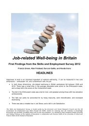 Job-related Well-being in Britain - Mini Report - llakes