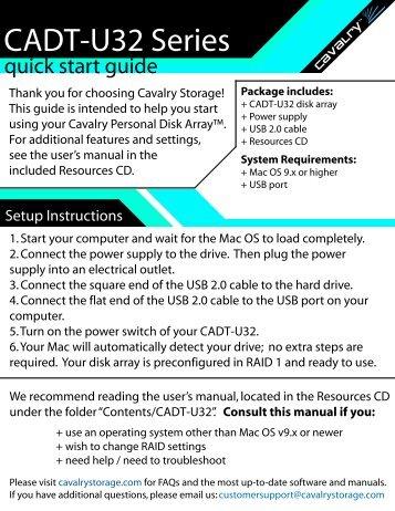 CADT-U32 Series - Cavalry