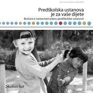 Predškolska ustanova je za vaše dijete - Skolverket