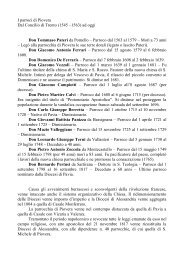 I Parroci di Piovera - Diocesi di Alessandria