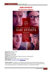 SIDE EFFECTS Production Notes - Visual Hollywood