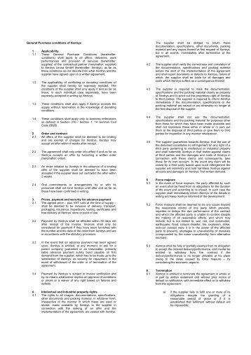 General Purchase Conditions Xentrys Leuna GmbH - xentrys.com