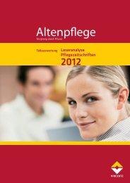 Leseranalyse Pflegezeitschriften - Häusliche Pflege Online