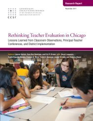 Rethinking Teacher Evaluation in Chicago - The Joyce Foundation