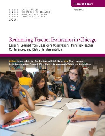 Rethinking Teacher Evaluation in Chicago - The Joyce Foundation