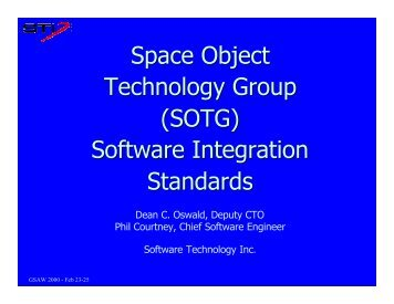 Space Object Technology Group - USC Center for Systems and ...