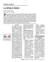 la sphq à paris, laurent lamontagne, traces volume 49, numéro 1 ...