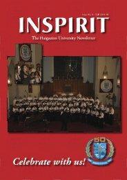 INSPIRIT No 9 - Fall 2004-2005 - Haigazian University