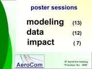 summaries poster presentations by one slide - AeroCom